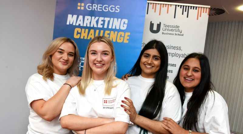 Marketing students Emily Bennett, Alisha Sarmad, Tia Ellahi and Robyn Claridge.