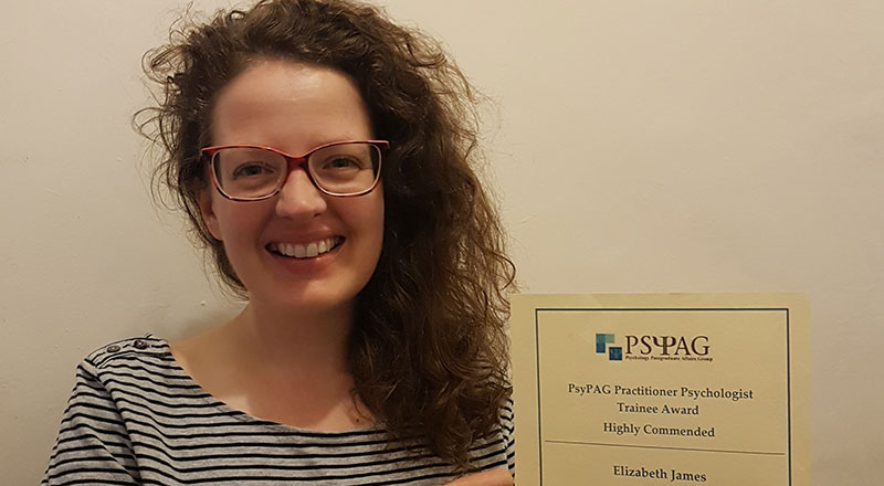 Elizabeth James, Doctorate in Counselling Psychology