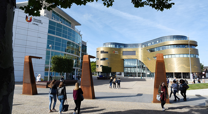 Teesside University's Middlesbrough campus is to host a Covid-19 testing centre