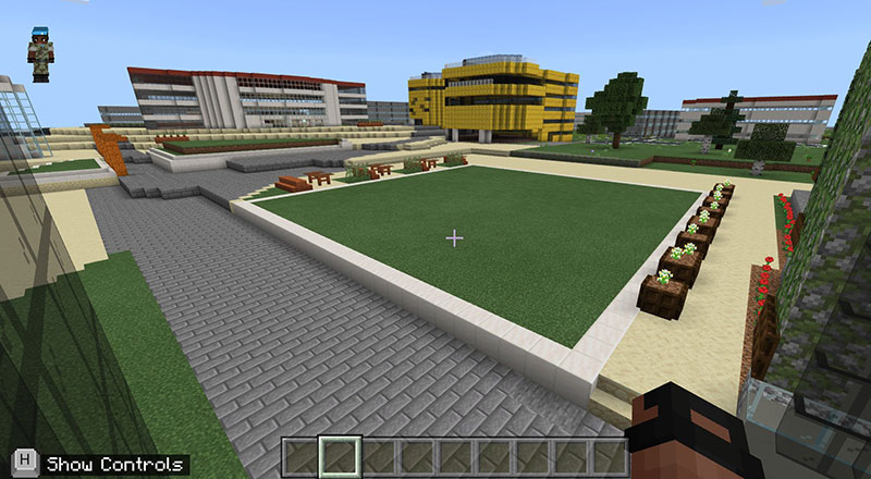 Virtual Campus Heart in Minecraft