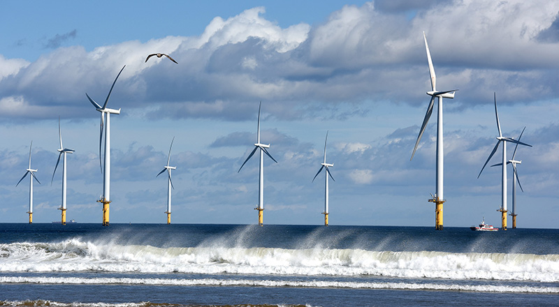 Link to Pioneering project could help Government meet wind power pledge.