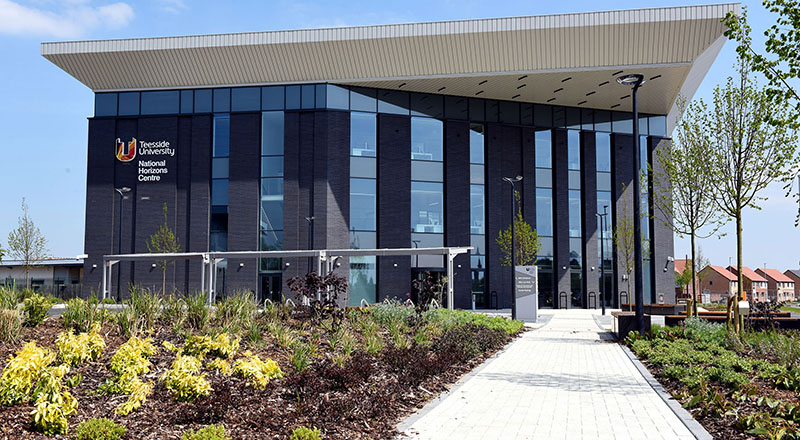 Teesside University's National Horizons Centre which is entering into a partnership with the Durham Tees Valley Research Alliance.