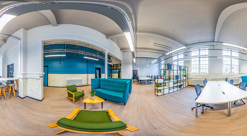 The newly refurbished Launchpad at Teesside University's Victoria Building. Chapman Brown Photography.