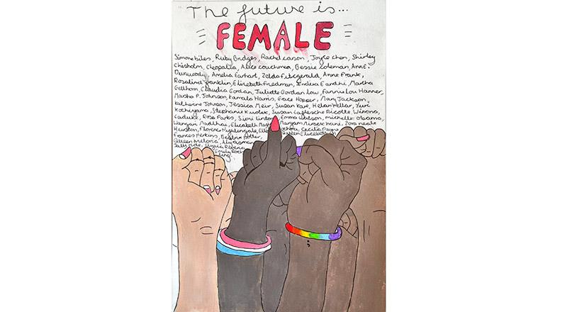 The 'Future is Female' artwork by Hannah Fox