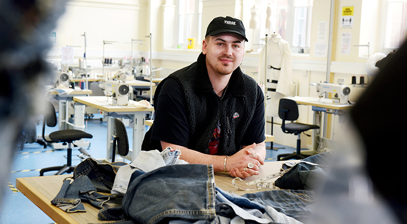 Harry Tribe, BA (Hons) Fashion and Textiles. Link to Passion for fashion leads student Harry to turn entrepreneur.