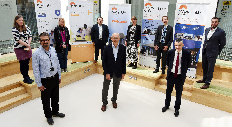Staff from Teesside University and the National Horizons Centre with representatives from the National Measurement Laboratory at the signing of the new partnership.