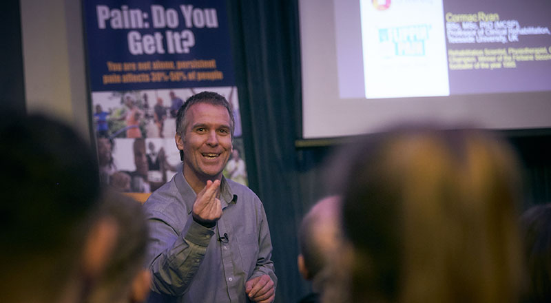 Professor Ryan Cormac pictured at a recent Flippin Pain event