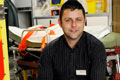 Paramedic Chris Moat who returned to education