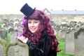 Rebecca Greener at Whitby Goth Weekend.