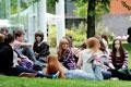 Students at Teesside University.