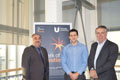 Professor Nashwan Dawood, Director of Teesside University's Technology Futures Institute, Johnathan Munkley and Simon Crowe, Architectural Director at Niven Architects.