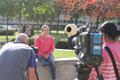 Jade Jones being interviewed for Transworld Sport.