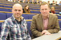 Dan Walker with Martin Pout, Assistant Dean, School of Arts & Media