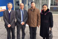 Dr Donglai Xu, a Reader in Teesside University's School of Science & Engineering and Professor Zulf Ali, Dean of the University's Graduate Research School, with Professors Enmin Song and Hong Liu.