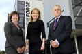 Caption: (left to right) Director of The Forge Laura Woods, Rita Clifton and Deputy Vice-Chancellor (Research and Business Engagement) Professor Cliff Hardcastle at the launch of The Forge.