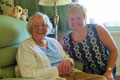 Community Agent Liz Toon, pictured right, with one of her clients