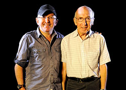 Simon with his father Robert McKeown.