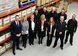Alex Ingham (left) with his team at MI Supplies.