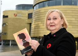 Beryl Robinson with her new novel.
