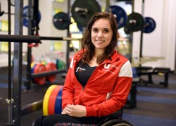 Jade Jones, a member of Teesside University's Elite Athlete Scheme who has been called up to the Great Britain Paralympic squad.
