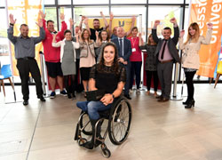ParalympicGB wheelchair racer and Teesside University student, Jade Jones