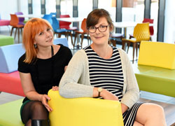 Dr Helen Davies (left) and Dr Sarah Ilott, organisers of the Mock the Weak comedy conference.. Link to Conference will tackle the taboo in comedy.
