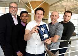 Andy Price, Sadikul Haque, Aidan Moore, David Donaghue and Bjoern Graeser.