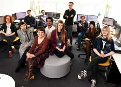 Siobhan Fenton with the ten School of Computing Graduate Interns.