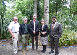 UK Delegates with British High Commissioner Steve Thompson (first left).. Link to Research Council UK funds further Kiwi partnership for TeeGene.