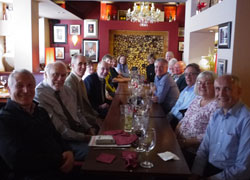 Among those enjoying the reunion, graduates Allan Pollock, Alan Green, Anton Van Santen, Geoff Walker, John Hobson, Kamal Jardaneh and lecturers Dr George Martin, Dr Dave Pritchard and Dr Mark Gerrard