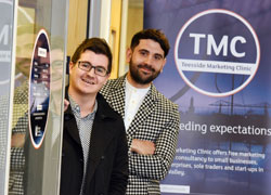 BA (Hons) Marketing students Steven Askham and Luke Evans at Teesside Marketing Clinic