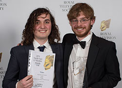 Develop team: Ben Driver and Sam Smith. Image credit: Steve Brock, RTS