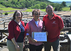 Dr Gillian Taylor, Rhys Williams and Dr Andrew Birley at Vindolanda