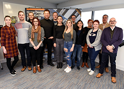 George Clarke with the first cohort of students on the MSc Advanced Home Futures.