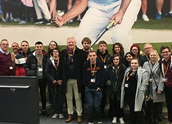 Paul Bailey with Teesside University journalism students