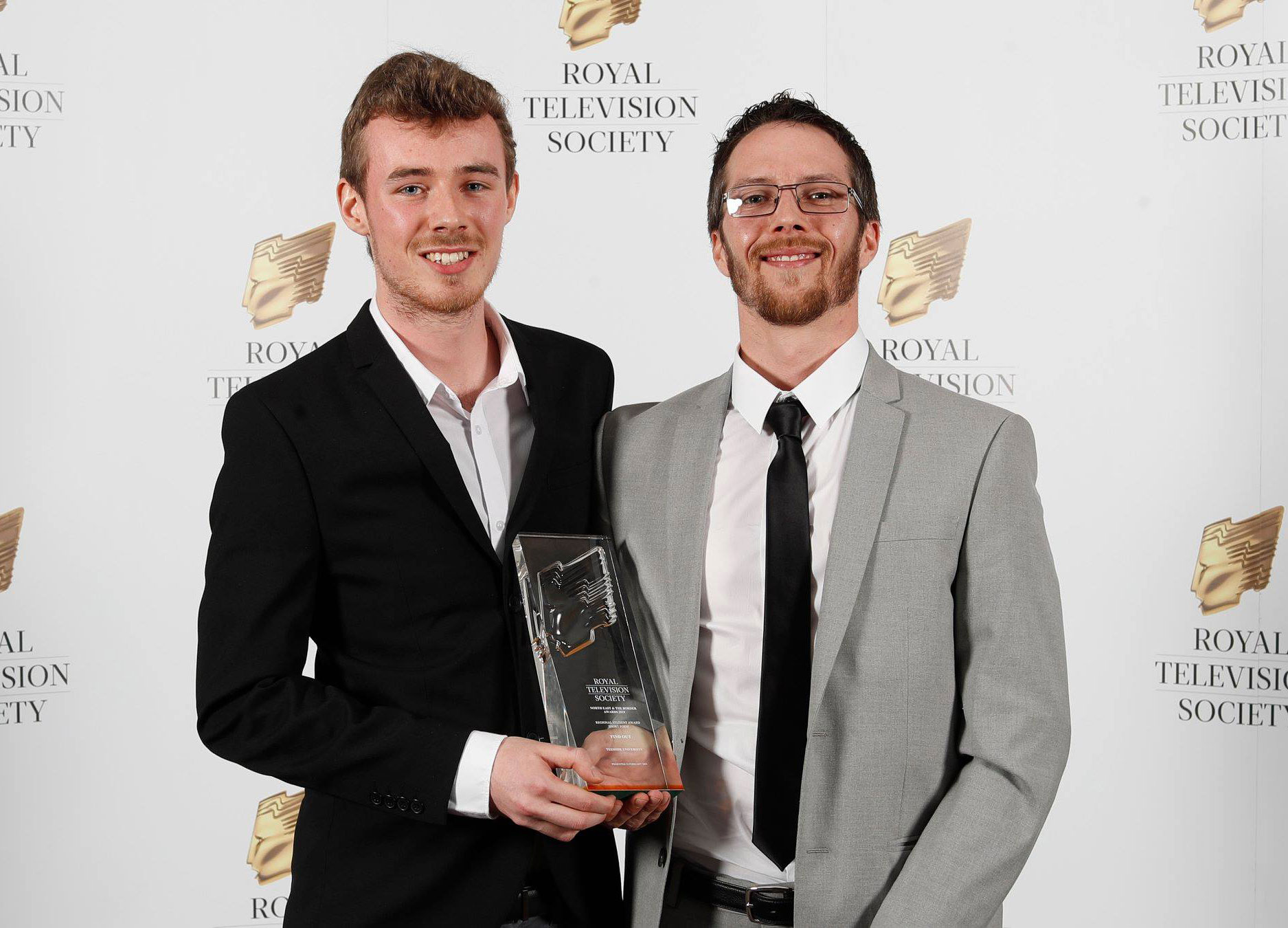 TJ Simon and Nicky Mawdesley who won the Short Form award for Find Out