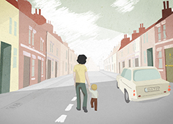 A still from one of the animations produced by the TUCan animation studio at Teesside University for Irene's Ghost