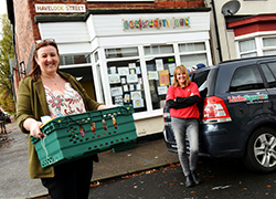 Rebecca's voluntary work with charity tackling food poverty