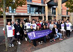 Teesside University hosts the finishing line for Teesside's...