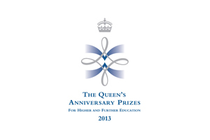 Queen's Anniversary Prize. Link to Queen's Anniversary Prize.