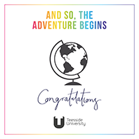 Ecard 1 - and so the adventure begins, congratulations
