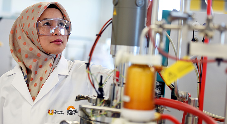 KTP associate Dr Nanda Ayu Puspita in the laboratories in the National Horizons Centre.