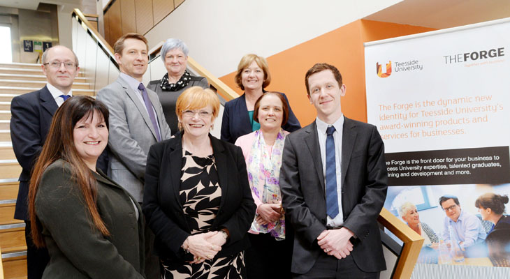 Pictured: (front left) Jenny McKnight, Head of People Development at BMI Healthcare and (front 2nd left) Marion Grieves, Dean of the School of Health & Social Care along with others involved with the agreement.