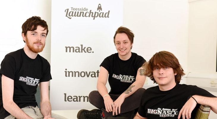 Big Nasty (from left) - Josh Bamforth, Adam Davies and Jack Fletcher