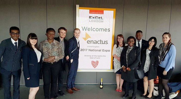 The Enactus Teesside team at the 2017 Enactus UK National Expo