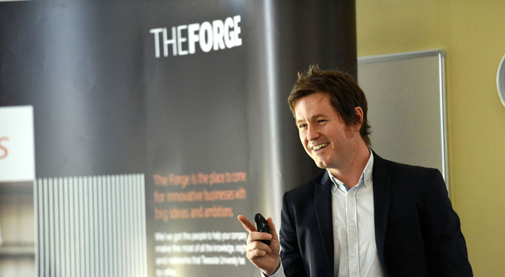 Rob Smedley, speaking at the Business Exchange at the Centre for Professional and Executive Development.