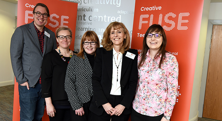 Members of the Creative Fuse team at the Tees Valley launch: (L-R) Samuel Murray, Wendy Parvin, Corinne Templeman, Sharon Paterson, Sarah Panayi