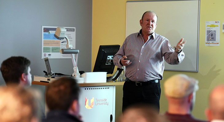 Ian Livingstone speaking at the launch of Leading Growth
