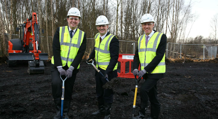 Launching construction of the National Horizons Centre in Darlington: (from left) Mayor of the Tees Valley Ben Houchen, Minister for the Northern Powerhouse Jake Berry and Teesside University Vice-Chancellor Professor Paul Croney.