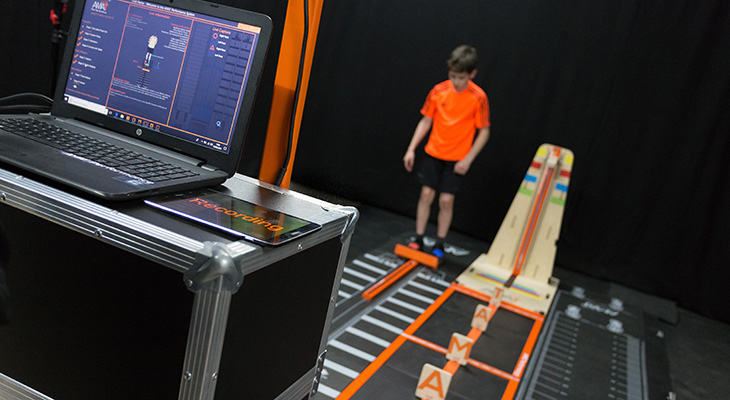 The AMAT platform uses gaming technology to monitor the training of young athletes.